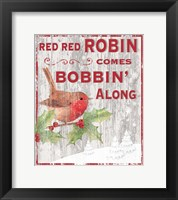 Framed Red Red Robin