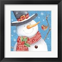 Framed Snowman