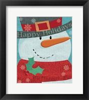 Framed Snowman w/ Scarf