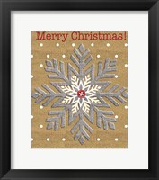 Framed Merry Christmas - Snowflake