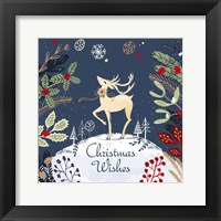 Framed Christmas Wishes - Reindeer