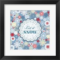 Framed Let It Snow - Pattern