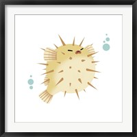 Framed Sea Creatures - Pufferfish