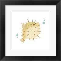 Sea Creatures - Pufferfish Framed Print