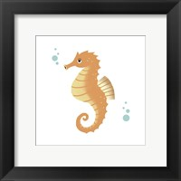 Sea Creatures - Seahorse Framed Print