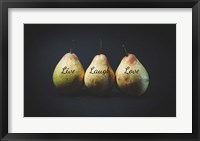 Framed Pears - Live Laugh Love