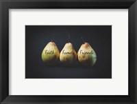 Framed Pears - Faith Family Friends