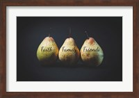 Framed Pears - Faith Family Friends
