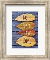 Framed No Place Like Home Leaves