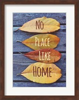 Framed No Place Like Home Leaves