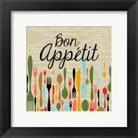 Framed Bon Appetit Cutlery Beige