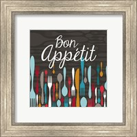 Framed Bon Appetit Cutlery Grey