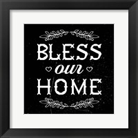 Framed Bless Our Home-Black