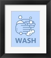 Framed Boy's Bathroom Task-Wash