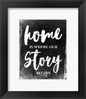 Framed Home Is Where Our Story Begins-Film