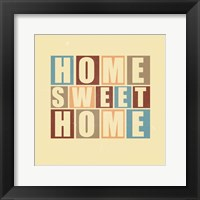 Framed Home Sweet Home-Retro