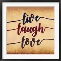 Framed Live Laugh Love-Aged Script
