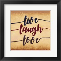 Framed Live Laugh Love-Aged Script