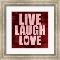 Framed Live Laugh Love-Grunge