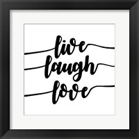 Framed Live Laugh Love-Script
