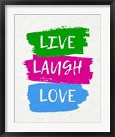 Framed Live Laugh Love-Bold