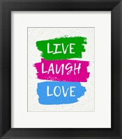 Framed Live Laugh Love-Bold