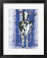 Framed Denim Cow
