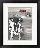 Framed Winter Cow
