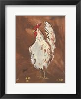 Framed Brown Rooster