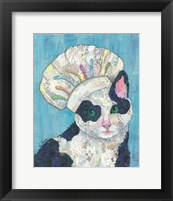 Framed Chef Cat