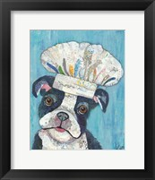 Framed Chef Dog
