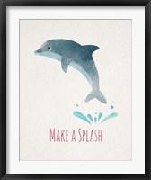 Framed Make a Splash Dolphin White