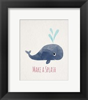 Framed Make a Splash Whale White