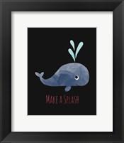 Framed Make a Splash Whale Black
