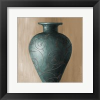 Framed Blue Vessel I