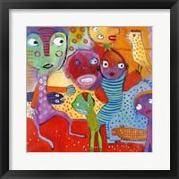 Framed Colourfull Mars Men IV