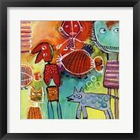 Framed Colourfull Mars Men VI