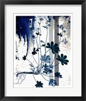 Framed Blue Flower 2