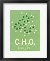 Framed Molecule Aloe Vera Green