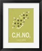 Framed Molecule Avocado Green