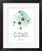 Framed Molecule Agave Aqua