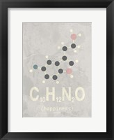 Framed Molecule Happiennes-Medium Grey