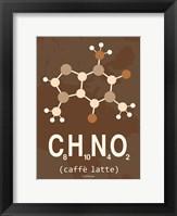 Framed Molecule Caffe Latte