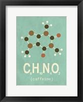 Framed Molecule Coffeine
