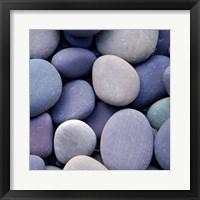 Framed Purple Pebbles