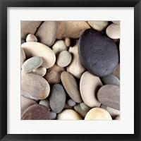 Framed Brown Pebbles