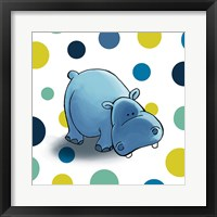 Framed Hippo Dots