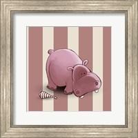 Framed Hippo Stripes
