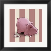 Framed Hippo Stripes