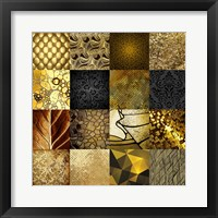 Framed Tiles Decor Gold